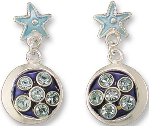 Zarah 709701 Crystal Star & Moon Earrings