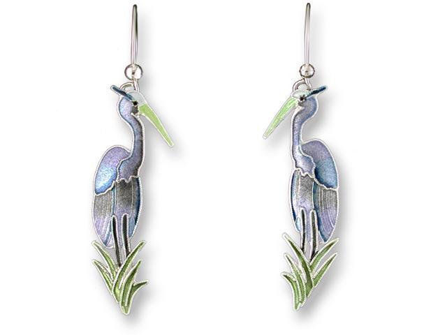 Zarah Co Jewelry 710701 Great Blue Heron Earrings