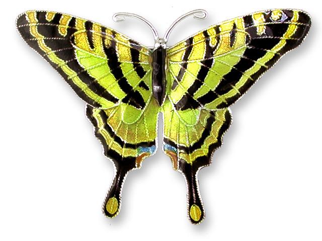 Zarah 711802 Tiger Swallowtail Pin Brooch