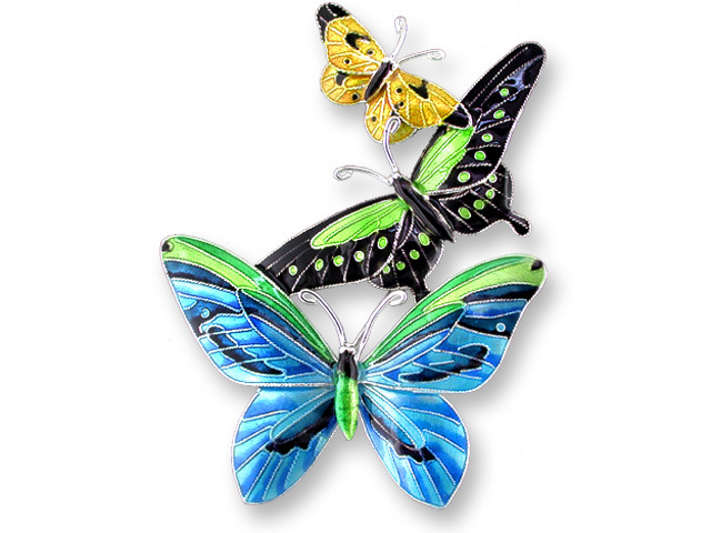Zarah Co Jewelry 712102 Tropical Butterfly Pin Brooch