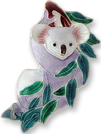 Zarah Co Jewelry 71766 Koala Bear Barrette Pendant