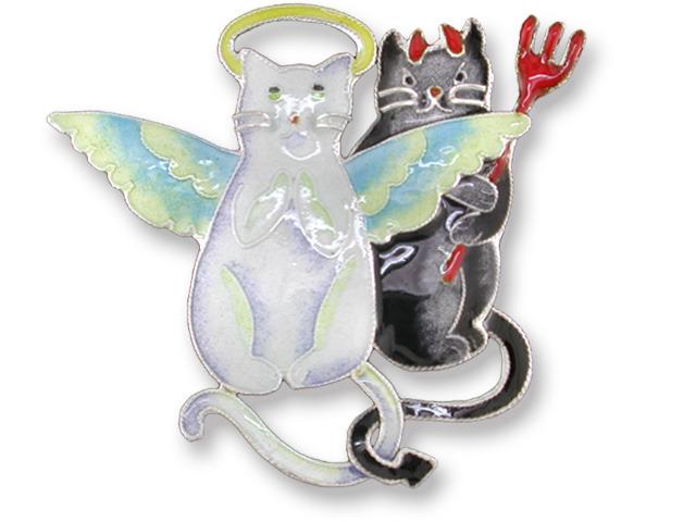 Zarah Co Jewelry 719102 Good Kitty Bad Kitty Pin Brooch