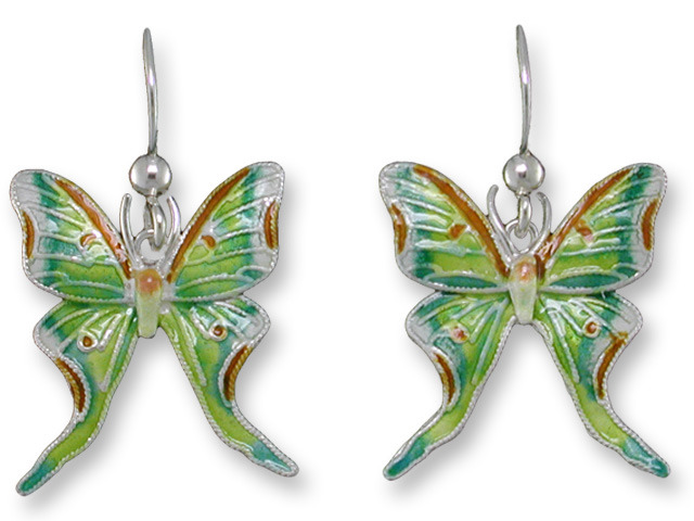 Zarah Co Jewelry 790201 Luna Moth Earrings