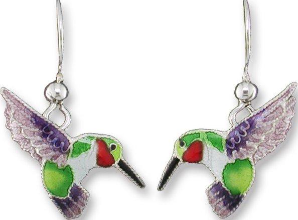 Zarah Co Jewelry 790301 Hummingbird Dangle Earrings
