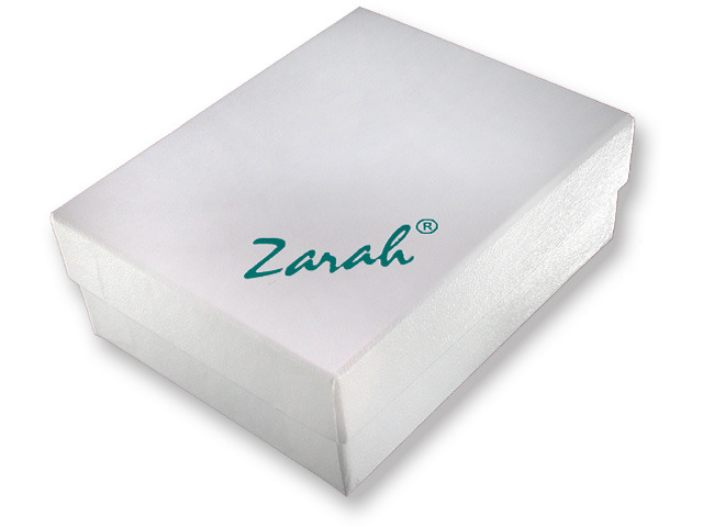 Zarah Co Jewelry BX101 Small White Gift Box with Logo