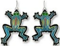 Zarah Co Jewelry 0104Z1 Calypso Frog Earrings