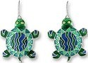 Zarah Co Jewelry 0105Z1 Calypso Turtle Earrings
