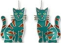 Zarah Co Jewelry 0112Z1 Calypso Cat Earrings