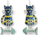 Zarah Co Jewelry 0113Z1 Calypso Cat-Fish Earrings