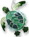 Zarah Co Jewelry 0707Z1P Green Turtle Pendant on Chain