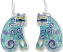 Zarah Co Jewelry 1102Z1 Curlicue Cat Earrings