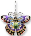 Zarah Co Jewelry 1103Z1P Designer Butterfly Pendant on Chain