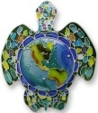 Zarah Co Jewelry 1601Z2 Earth Turtle Pin Brooch