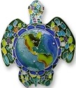 Zarah Co Jewelry 1601Z2P Earth Turtle Pendant on Chain