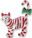 Zarah Co Jewelry 1701Z2 Candy Cane Cat Pin