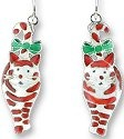 Zarah Co Jewelry 171591 Candy Cane Cats Earrings