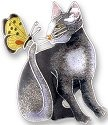 Zarah Co Jewelry 197102 Cat with Butterfly