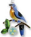 Zarah 2139Z1P Bluebird and Dogwood Pendant on Chain