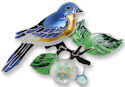 Zarah 2139Z2 Bluebird and Dogwood Pin