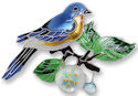 Zarah 2139Z2P Bluebird and Dogwood Pendant on Chain