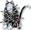 Zarah Co Jewelry 218592 Decorated Cat Pin Brooch
