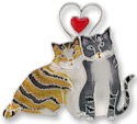 Zarah Co Jewelry 2601Z2 Love Kitties Pin