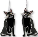 Zarah Co Jewelry 2918Z1 Black Kitty Earrings