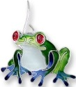 Zarah Co Jewelry 2919Z1P Blue-Toed Frog Pendant