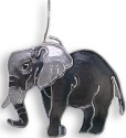 Zarah Co Jewelry 2921Z1P Grey Elephant Pendant
