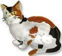 Zarah Co Jewelry 296502 Calico Cat Pin Brooch