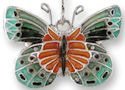 Zarah Co Jewelry 3202Z1P Satinwing Butterfly Pendant