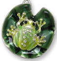 Zarah Co Jewelry 3209Z1P Frog on Lily Pad Pendant