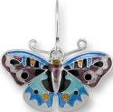 Zarah Co Jewelry 3224Z1P Blue Pansy Butterfly Pendant