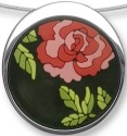 Zarah Co Jewelry 3311V7 Japanese Peonies Necklace