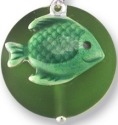 Zarah Co Jewelry 336201P Fish on Glass Pendant on Chain