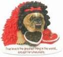 Zelda Wisdom 4852 Bulldog I Love Chocolate Magnet